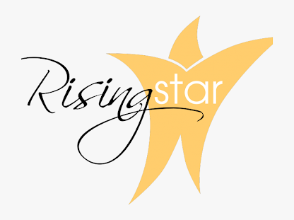 gold star with wording Rising Star